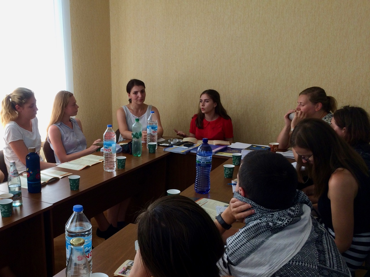 Palacky University students visiting Fund of Women entrepreneurs in Kutaisi